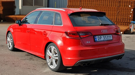 Ta bort S3-merket i hekken - så vil de fleste tro du har kjørt en helt vanlig Audi A3 med litt styling.