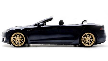 Slik ser Newport Convertible Engineering for seg at Tesla Model   S skal se ut som cabriolet. ALLE FOTO/ILLLUSTRASJONER: Newport Convertible   Engineering (NCE)