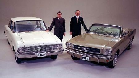 Bildet Mustang-entusuaster har lite sansen for. Det ER samme bil (nesten)... Dog er denne Falcon fra 1960.