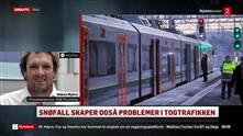 Store forsinkelser i togtrafikken i snøkaoset