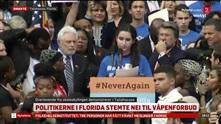 Overlevende etter skoleskytingen i Florida demonstrerer mot våpenloven