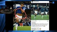 Everton-spissen blir tatt på fersken i bilderedigering