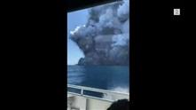 Michael var på toppen av vulkanen 30 minutter før utbruddet