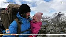 Fire år gamle Mina skal på en 250 km lang tur i høyfjellet