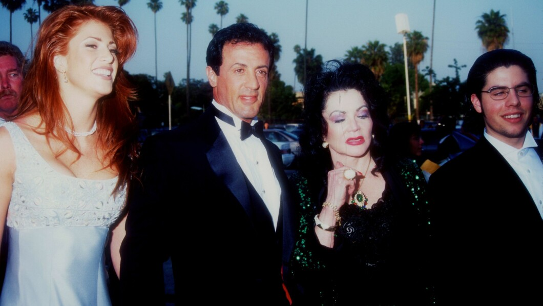 FAMILY: Sylvester Stallone, Jackie Stallone and Sage Stallone on the red carpet.