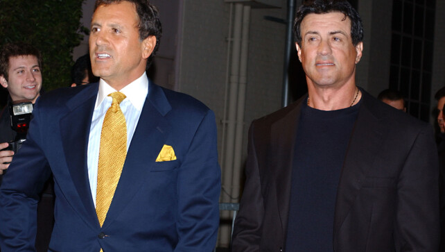 BROTHER: Frank and Sylvester Stallone in Hollywood 2005.