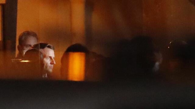 PRESIDENT: Emmanuel Macron visited Conflans-Sainte-Honorine on Friday night.