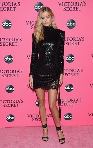 New York: Frida Asen è stata fotografata alla festa dello spettacolo per quello che sarebbe stato l'ultimo spettacolo di Victoria's Secret.