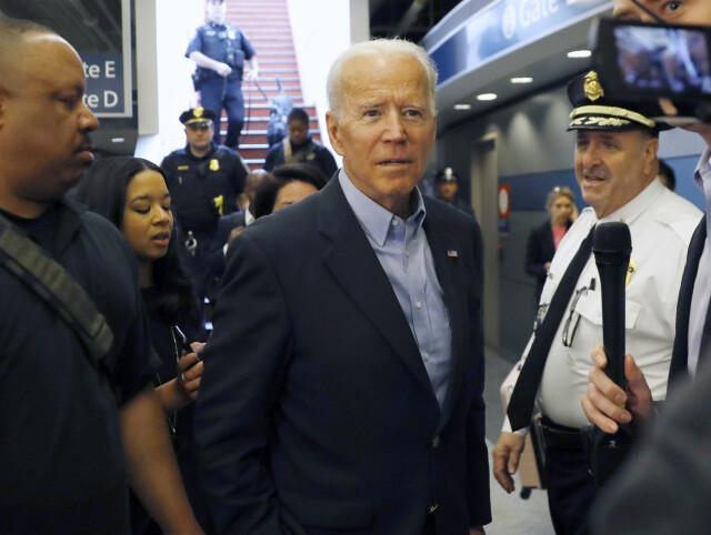 Joe Biden på togstasjonen Wilmington i april 2019.