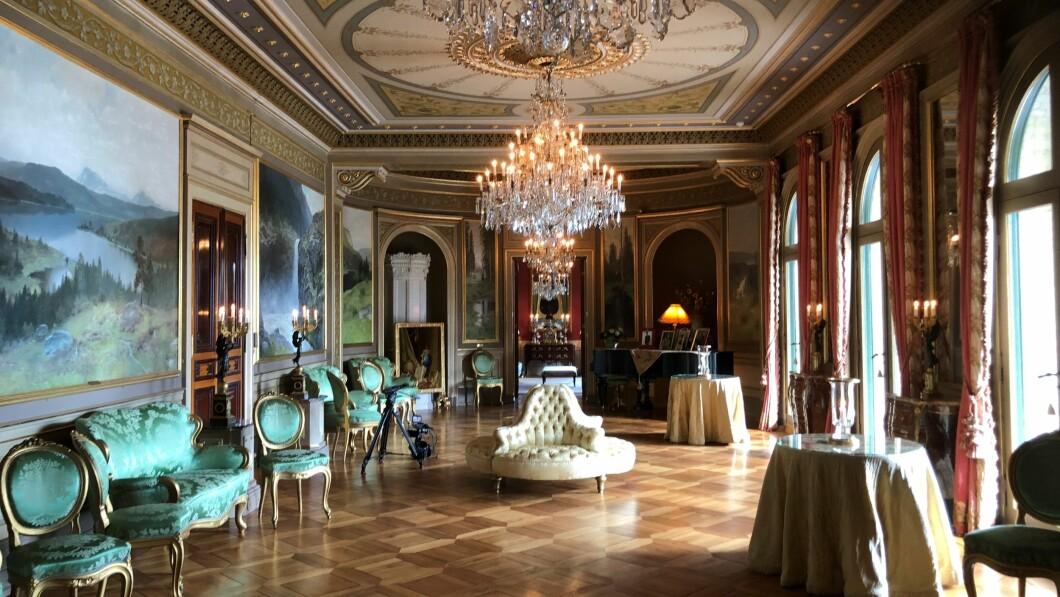 Salone del giardino.  Una sala del castello che viene utilizzata per le grandi occasioni.