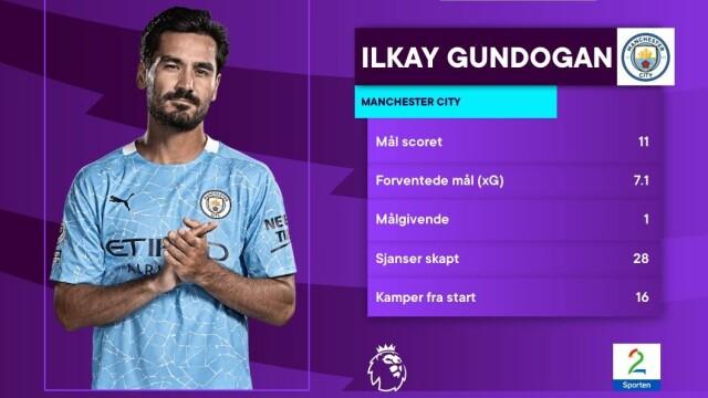 Viktig: Ilke Gundogan er en av Pep Cardiolas viktigste spillere denne sesongen. Onsdag måtte City klare seg uten tyskeren.