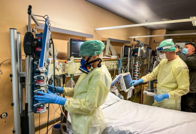 Intensieve afdeling: Er is veel apparatuur nodig op de Intensive Care Unit voor coronaire hartziekten in het Hockland Hospital.