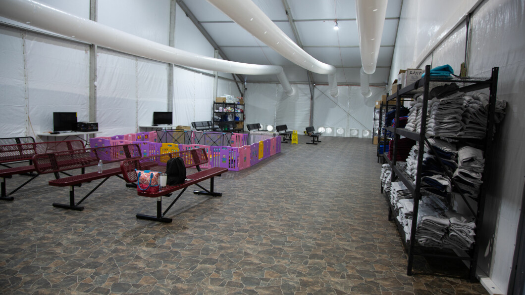 Texas: One of the rooms in the Temporary Detention Center for Immigrant Children was like it was before it came into use.
