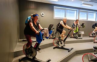 Roterende mot hjernedød: Det kombinerte paret trener ukentlig på et treningssenter. De tror det kan hjelpe med hjernesykdom.