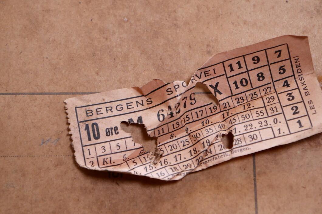 Biglietto del tram da Bergens Sporvei.