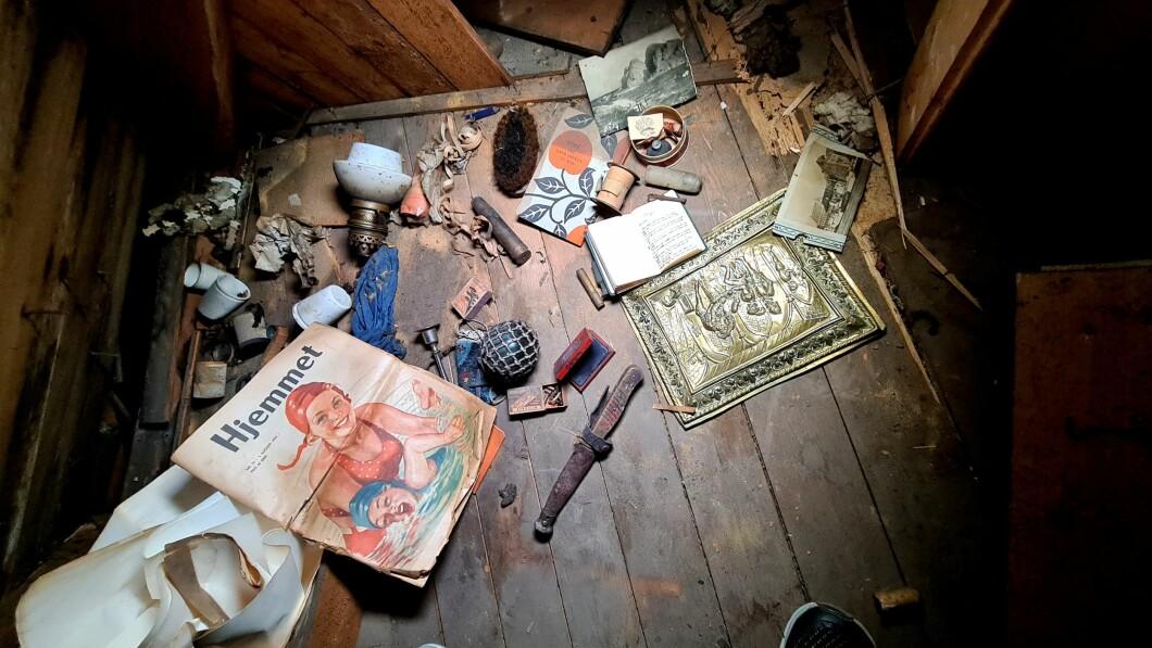 Tesori: alcuni oggetti nella soffitta di Sondre.