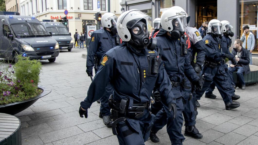 BLE BRÅK: Da Sian avsluttet sin forrige demonstrasjon i Oslo i august i fjor, endte det med bråk og hærverk i Oslos gater.