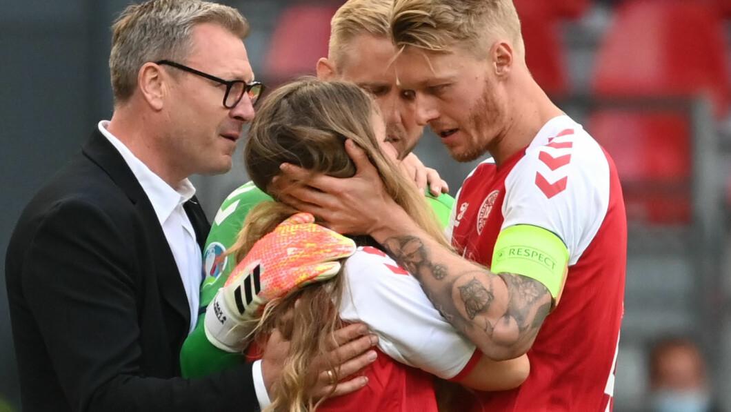 Sabrina Kvist Jensen heeft condoleances ontvangen van Kjær en Kasper Schmeichel.