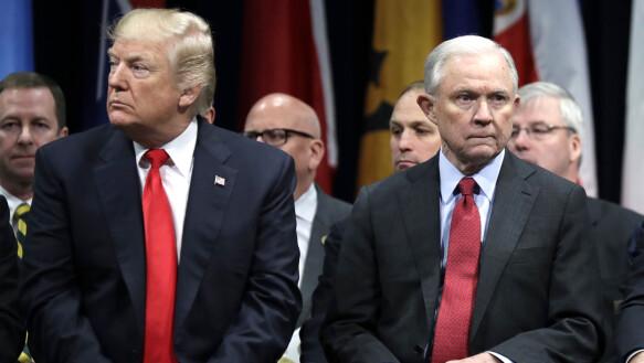 Jeff Sessions was de procureur-generaal van Trump in 2018, toen de bijeenkomst plaatsvond.