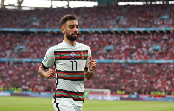 Calcio - Euro 2020 - Gruppo F - Ungheria - Portogallo - Puskas Arena, Budapest, Ungheria - 15 giugno 2021, piscina di Bruno Fernandes Portogallo via Reuters / Alex Pantling