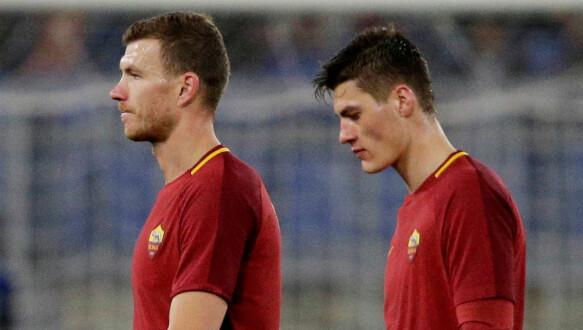 Sotto: Patrick Schick è stato una vera delusione a Roma.  Qui con l'attaccante Edin Dzeko.