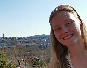 STUDENT: Guro Rio Berge (21) i Trondheim.  الشوارع النرويجية غير آمنة للنساء: أحتفظ بحجر في يدي في طريق العودة للمنزل 14098362