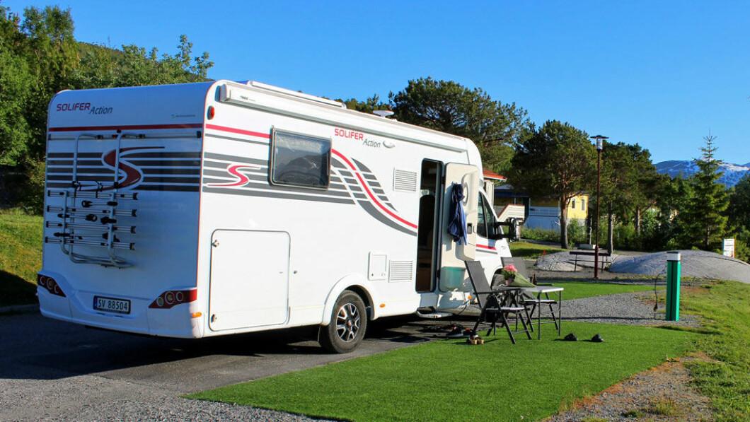 La vacanza in Norvegia non è un errore, ma quest'anno Frank e Marina stanno tornando a sud.  Immagine da Inhawett nel nord-est.  Foto: privato.