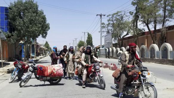 Taliban: Taliban militants patrol Ghazni, a short distance from Kabul.