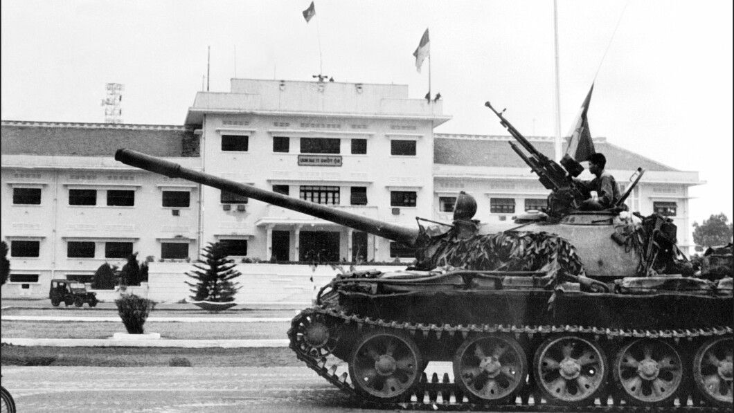 Deacon control: North Vietnamese forces seized control of Saigon in April 1975, the day the Americans were forced to evacuate the city.