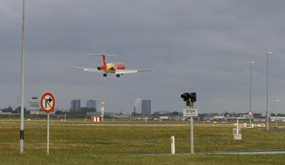 The Danish evacuation plane landed Wednesday morning.