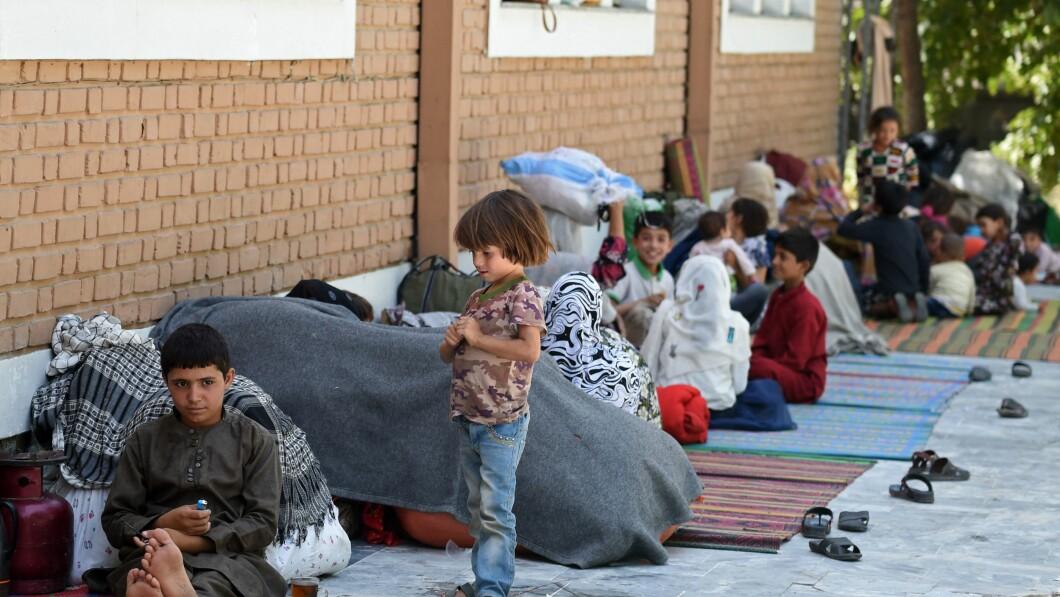 Veel kinderen zijn gevlucht voor de gevechten tussen de Taliban en de Afghaanse veiligheidstroepen.