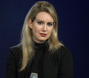 Elizabeth Holmes in 2015 - just before the house of cards collapsed.  Selectors