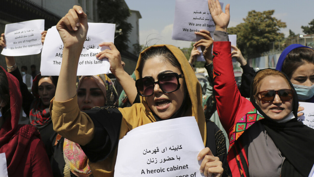 I manifestanti hanno chiesto l'influenza delle donne nel governo, ma sono stati presto repressi dai talebani.