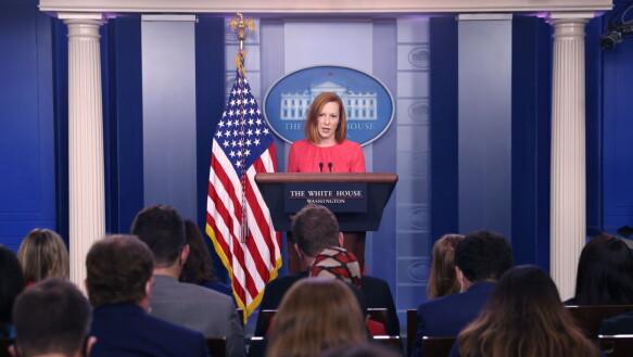 Il segretario stampa Jen Psaki ha respinto le critiche dell'Unione europea e della Francia.
