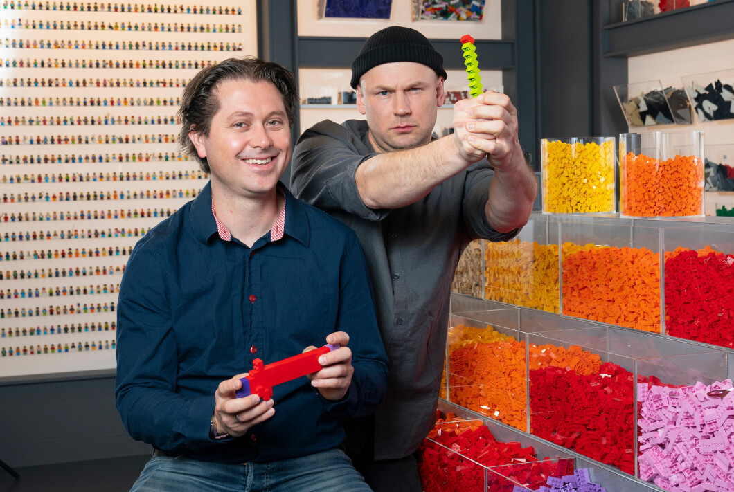 PLAYING TYPES: Both Rune Jannson Gabrielsen and Jørgen Berg Pedersen found their way back to the LEGO universe after a break of several years.