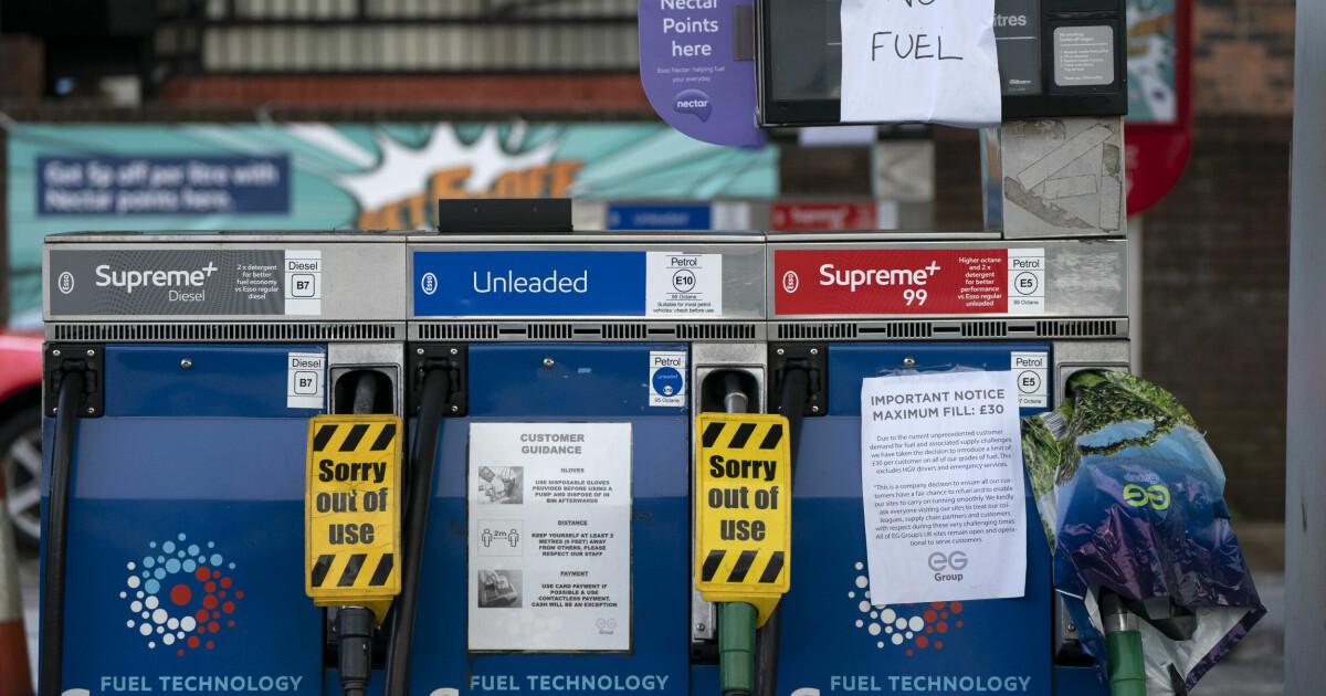 Den britiske hæren settes i beredskap på grunn av drivstoffkrisen