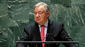FNs generalsekretær António Guterres reagerer på angrepet i Kongsberg.