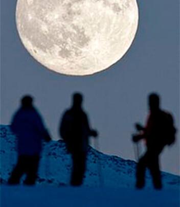 Skitur i månelys er en fantastisk opplevelse. Foto: Leaf Petersen / Creative Commons
