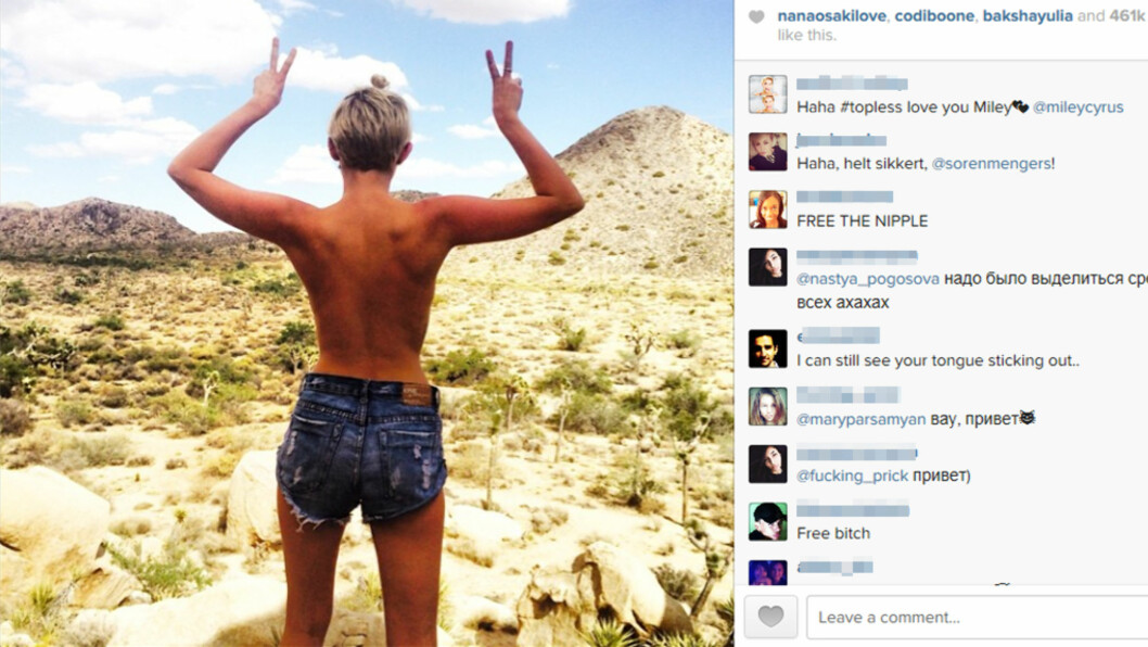 Miley Cyrus (21) slenger seg på lettkledd bildetrend