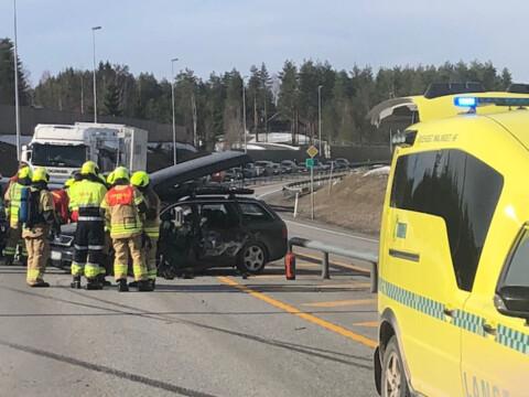 Trafikkulykke ved Elverum