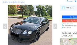 """Bilen som står annonsert er """"pimpet"""" opp litt, med sorte felger. Faksimile: Finn.no"""