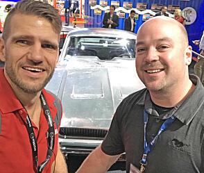 Brooms redaksjonssjef, Vegard Møller Johnsen, fikk møte eieren av bilen, Sean Kiernan.