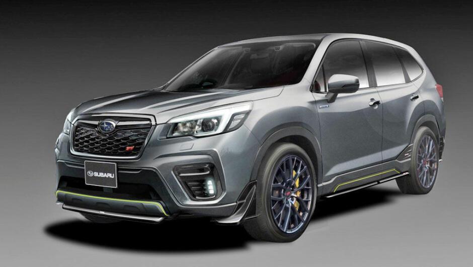 Dette Teaser Bildet Har Subaru Vist Av Sin Kommende Forester Hybrid