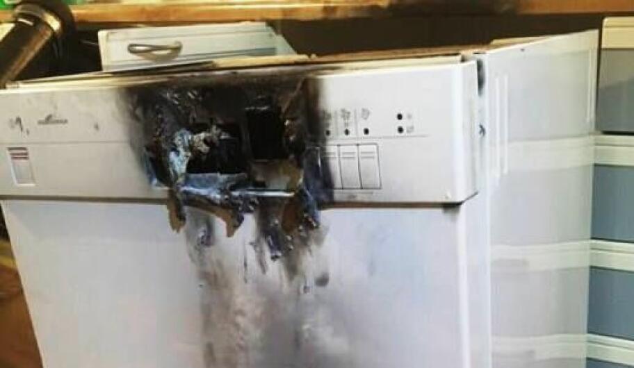 0af6dba71 Oppvaskmaskin ble brannfelle - nå har brannvesenet en advarsel