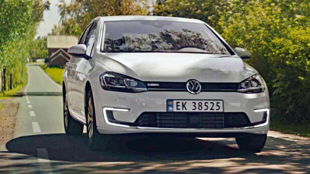 VW e-Golf er et alminnelig syn på norske veier.