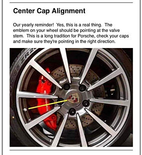 Porsche gir kundene sine en liten påminnelse om dette.