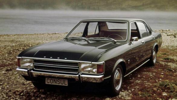 For Consul er og var fine biler. Dette er et originalt reklamebilde fra tidlig på 70-tallet.