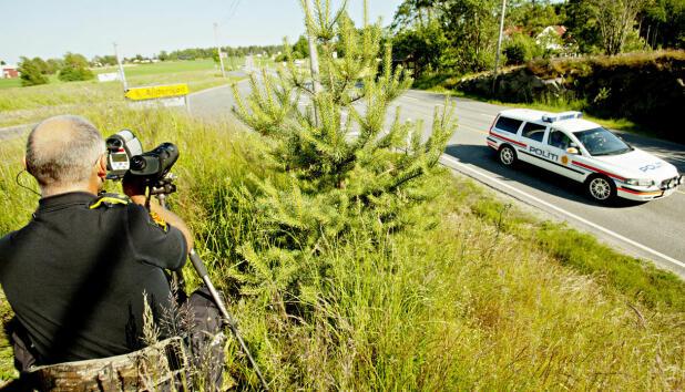 Politiet har fokus på å luke ut verstingene i trafikken, laserkontroller er et virkemiddel her: Foto: Scanpix.
