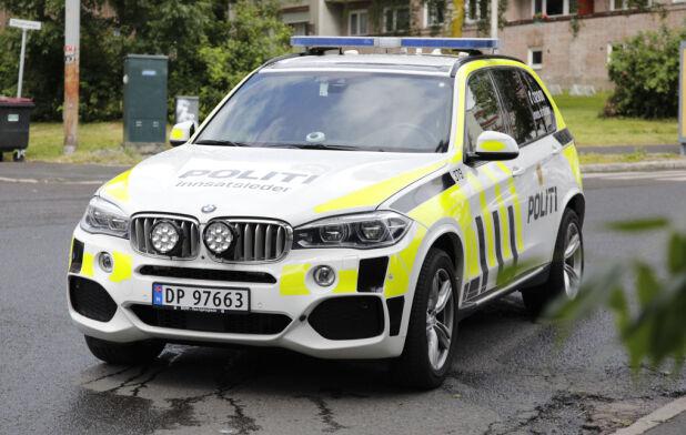 BMW X5 har vært en del av politiets bilpark siden 2014. Broom erfarer at det er X5 40d som benyttes. Den har en 3-liters rekkesekser på 313 hk. Foto: Scanpix