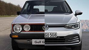 VW Golf fyller 46 år nå og symboliserer på mange måter en reise i tid.